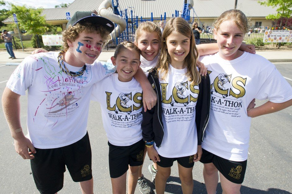 Lodi Christian School's Walk-A-Thon