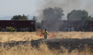 Vegetation fire burns three acres on Lodi's Eastside