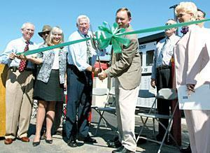 School district, city officials celebrate opening of CNG station