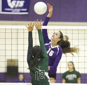 Volleyball: Tigers too much for Eagles