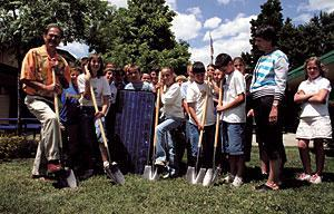 Reese students receive prized solar panel