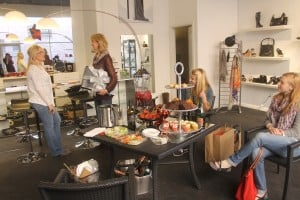 Lodi Shops Kickstart The Holiday Season: Shoppers enjoy treats at Pret in Downtown Lodi on Saturday, Nov. 24, 2012. The holiday shopping season began with an open house for several stores.  - Photo by Sara Jane Pohlman/News-Sentinel