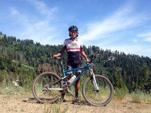 Robert Terra competes in cycling race in Boise, Idaho