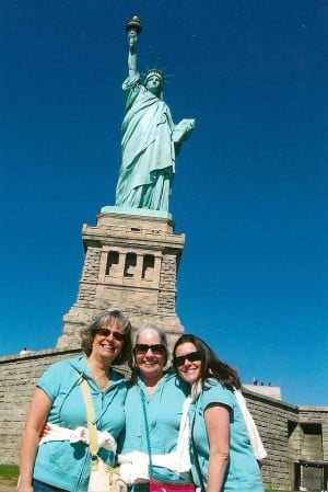Three Lodians get Lady Liberty to themselves