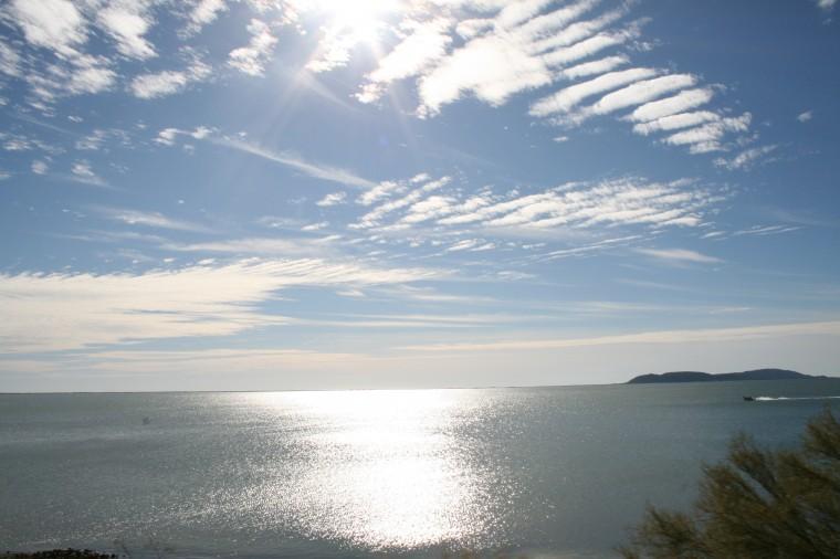 Guaymas Bay in Mexico. 12-27-2009