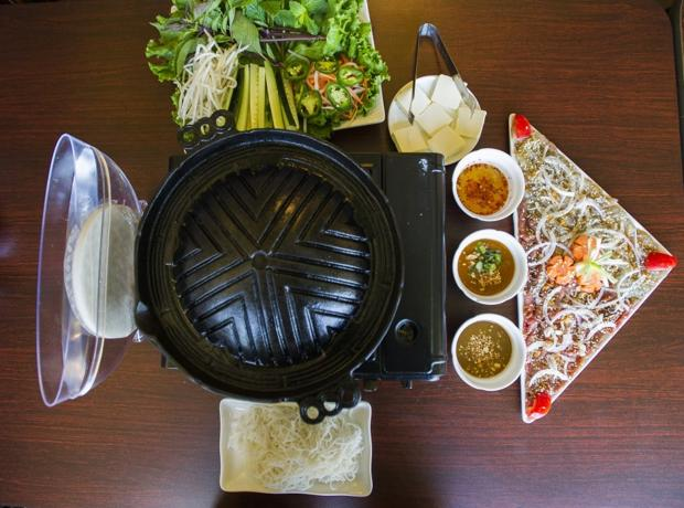 Interactive dining with table-top grill, pho, Vietnamese faves at Bamboo Basil