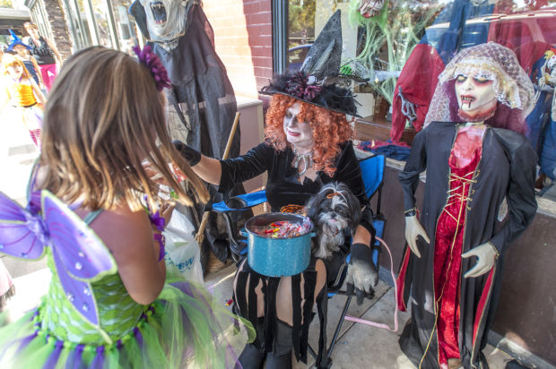 Trick-or-treating in Downtown Lodi