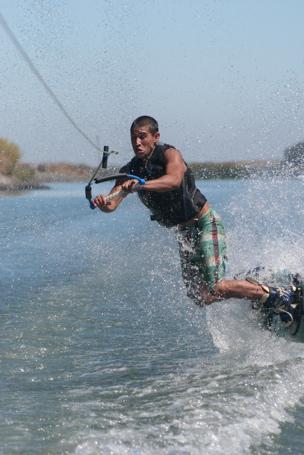 Tyler catches an edge