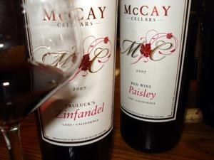 McCay Cellars Truluck's Zin and Paisley