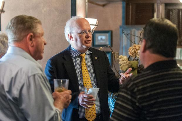 Republican political consultant Karl Rove speaks in Woodbridge