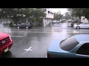 Heavy rain and hail soaks Lodi