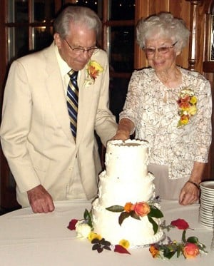 Wilbert and Violet Reiswig celebrate 65 years of marriage