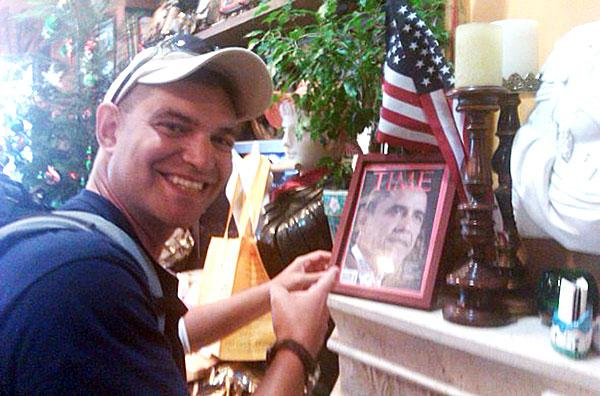 Man who walked through Lodi delivers messages to Obama