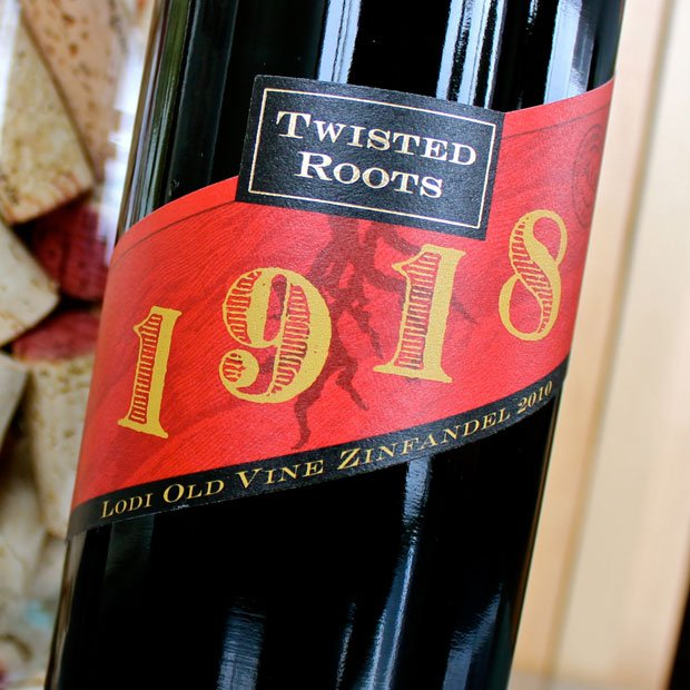 Twisted Roots 1918 Old Vine Lodi Zinfandel is unusually zesty yet smooth
