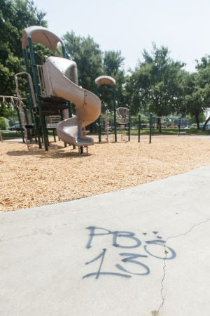 Gang members tag Legion Park with graffiti — again