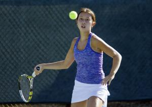 Girls tennis: Flames top Tigers in first league clash in a decade