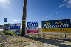 Familiar campaign signs provide key part of election strategy — name recognition