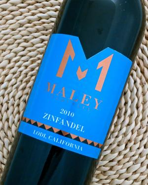 2010 Maley Zinfandel filled with hints of jammy spice