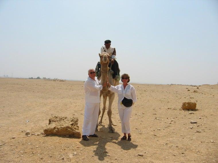 Guards & Camel Near Red Pyramid