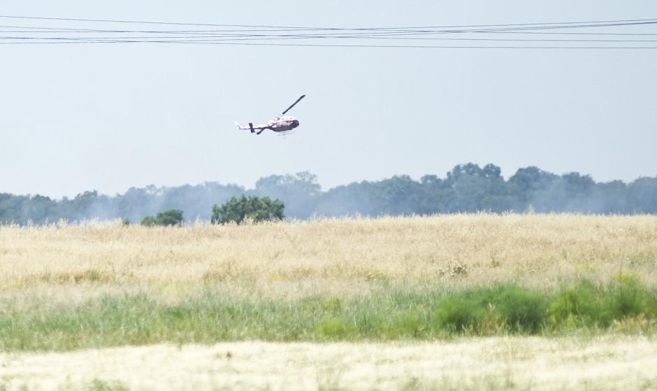Hard helicopter landing near Galt sparks fire; pilot OK