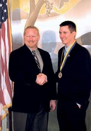 Lodi native Chris Wagner awarded for shooting violent suspect, saving a life