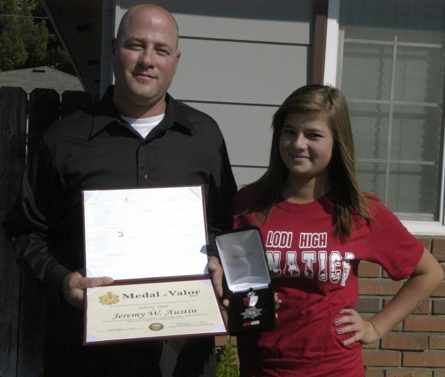 Lodi resident Jeremy Austin awarded Medal of Valor for rescuing stranded swimmer