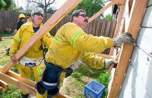 Lodi firefighters practice shoring techniques