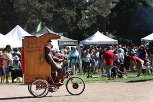 Sample bacon treats at the San Mateo Bacon and Brew Festival