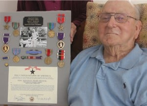 Big Christmas Eve surprise — Lodi's Harold Merrill gets Purple Hearts, Bronze Stars