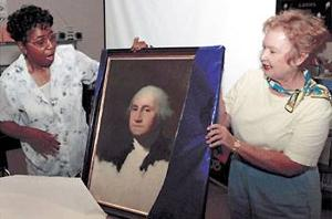 Washington Elementary School teacher retires, gives school portrait of president