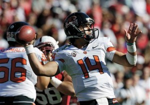 Lodi's Cody Vaz To Start At Quarterback For Oregon Beavers In Tangle With Texas: Oregon State quarterback Cody Vaz, a Lodi resident and former St. Mary's High School standout, will start for the Beavers when they play Texas in the Alamo Bowl on Saturday, Dec. 29, 2012, in San Antonio.  - Photo by Associated Press