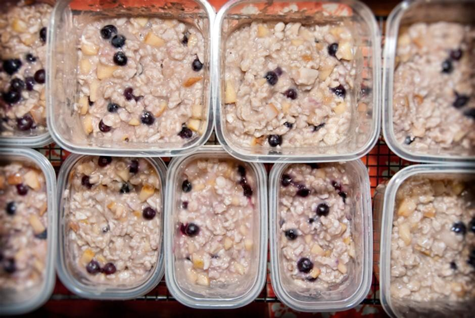 Try making homemade oatmeal for quick on-the-go healthy breakfasts