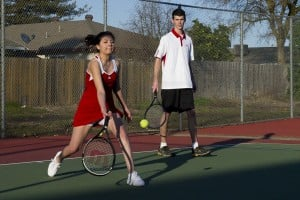 Galt Warriors, Liberty Ranch Hawks mix it up on the tennis court
