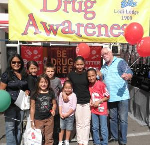 Lodi Elks set up drug awareness booth at street fair