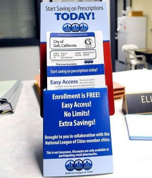Discount cards providing prescription relief in Galt