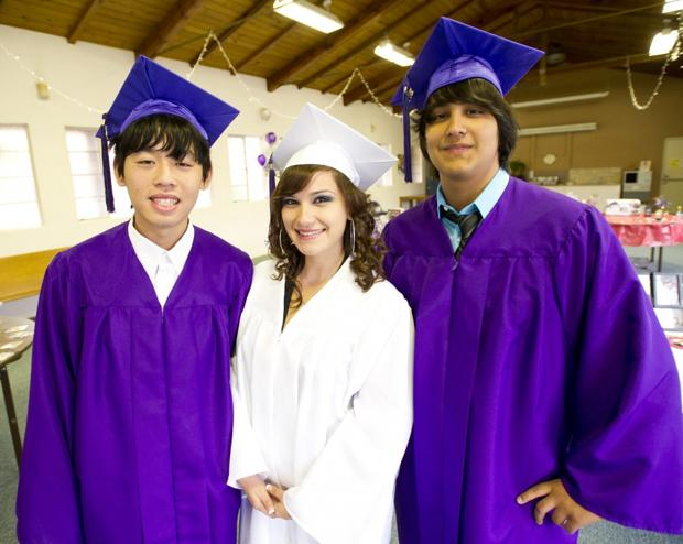 Mokelumne River High School graduation