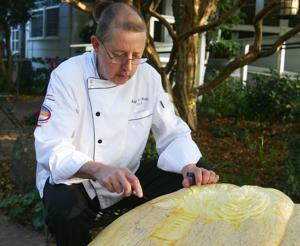 Woodbridge chef Ray Duey sculpts works of art