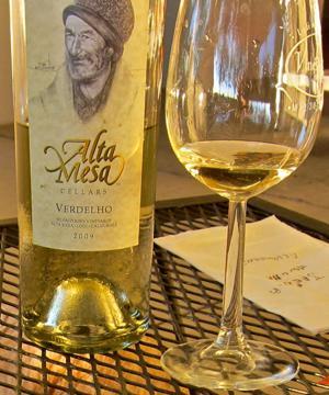 2009 Alta Mesa Lodi Verdelho melds silky dryness with perky tart flavor