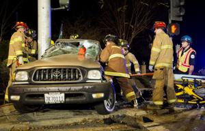 Two injured, one arrested in New Year's Eve crash