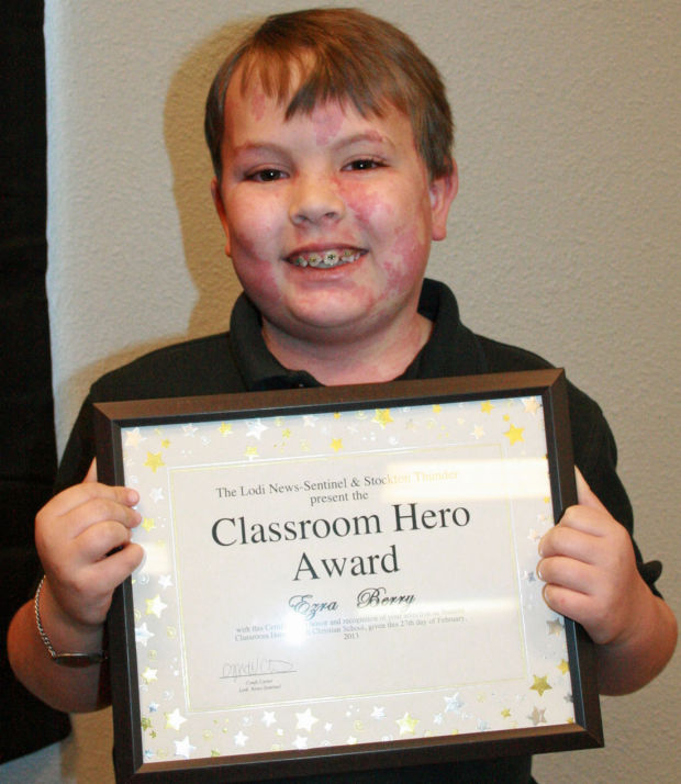 Lodi Christian School names Classroom Hero