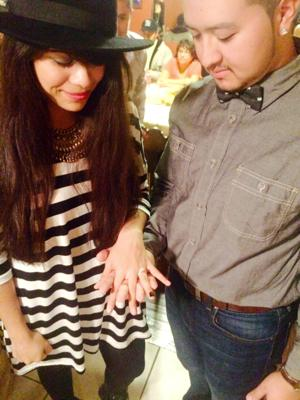Mario Jr. Rodriquez and Tere Hernandez were engaged last month