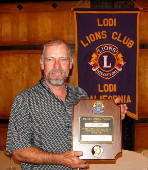 Lodi Lions Club presents Melvin Jones Fellowship to Jim Sturman