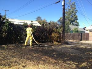 Firefighters extinguish small fire