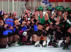 Be ready to cheer loudly at the Port City Roller Girls game