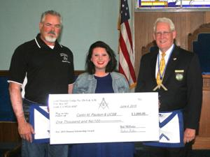 Masons award Henry and Karen Hansen Memorial Scholarship