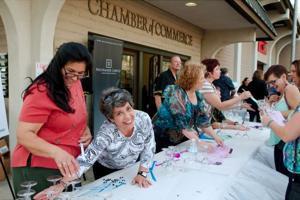 Lodi Chamber Signup Table