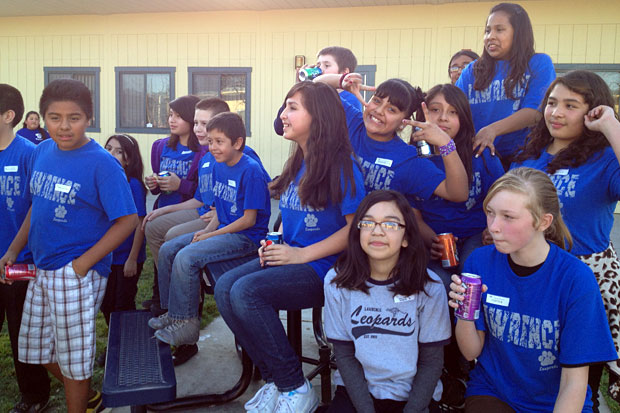 Borchardt Elementary School hosts 'Pyramaid Game'