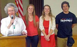 Lodi Garden Club presents three scholarships
