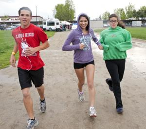 Lodi High School students walk, run laps to raise money for track improvements