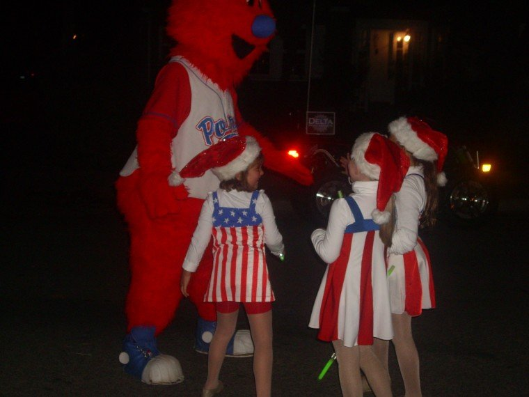 Getting Jiggy with Ports Mascot at Parade of Lights